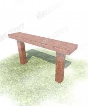 Scaun din granit roșu pentru cimitir 8