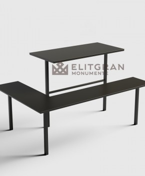 Masa si scaun din metal pentru instalarea la cimitir m2